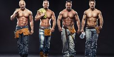 Group of young handsome builder posing, on dark background - Stock Photo , Sixpack Training, Free Photographs, Photo Grouping, Oldschool, Man Images, Many Men, Shirtless Men, Body Inspiration, Cute Gay