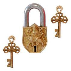 Brass Door Lock - Durga