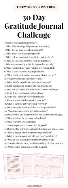 stepping up your gratitude practice for increasing joy, happiness, success, and abundance in your life. Grateful Quotes Gratitude, Gratitude Challenge, Journal Challenge, Attitude Of Gratitude, Gratitude Ideas, Happiness Challenge, Bullet Journal 30 Day Challenges, Tips For Happiness, Gratitude Tattoo