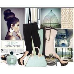 Tranquility by fabfashion, style Marni Tory Burch Casadei Tasha French Connection Mystic Light Giorgio Armani The Body Shop Eos mint green bangels satchel green bag giorgio armani high heel pumps with bow vamp vream and green black and beige pumps peacock color block beige and green aqua de gioia pumps
