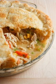 Chicken Pot Pie----I've been craving chicken pot pie. This looks like the best so far. Will be making soon Pie Recipes, Great Recipes, Chicken Recipes, Cooking Recipes, Favorite Recipes, Recipies, Fast Recipes, Homemade Chicken Pot Pie, Cream Of Chicken Soup