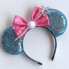 Fairy Godmother Mouse Ears – All Ears Boutique Co. Disney Ears Headband, Diy Disney Ears, Disney Minnie Mouse Ears, Disney Headbands, Disney Diy, Disney Crafts, Ear Headbands, Cute Disney, Mickey Ears Diy