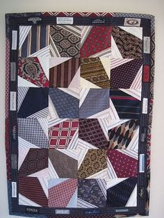 Quilt made of ties