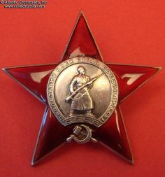 Collect Russia Order of the Red Star, Type 3 Variation 2 Sub-variation 1, #6035, awarded on 25 October 1938 to Private Aleksandr Timoshenko. Soviet Russian