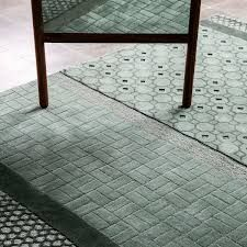 Celadon Jie Hand-Tufted Wool Area Rug by Neri and Hu Medium For Sale at