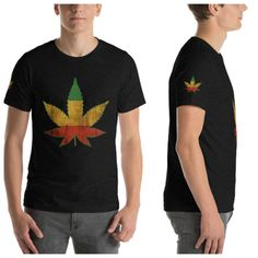 Panafrican cannabis Leaf t-shirt-rasta ganja Irie marijuana de la marijuana shirt