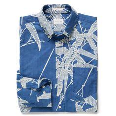GANT Rugger Men's Indigo Bamboo Shirt Lt Indigo | Official Site