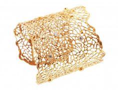 Gold Crystal Kai Cuff