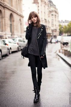 Cool street fashion spotted in Paris