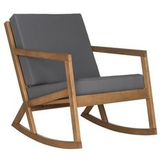 Safavieh Outdoor Living Vernon Brown/ Tan Rocking Chair ($181) ❤ Liked On  Polyvore Featuring Home, Outdoors, Patio Furniture, Outdoor Chairs, Outdoor  Patio ...