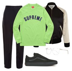 """Spring Supreme"" by aayeshaofficial on Polyvore featuring Prism, Balenciaga, Levi's Vintage Clothing and Vans"
