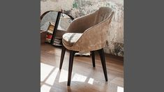 430 Opera dining armchair, fabric or leather dining armchair