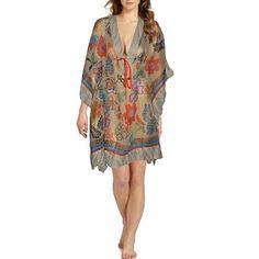 Multi Floral Chiffon Cover Up Beach Wear