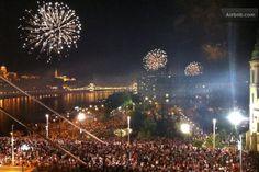 Fireworks on August Saint Stephen's Day Saint Stephen, Luxury Apartments, Budapest, Fireworks, Apartments