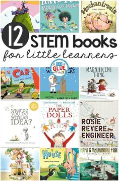 Bring STEM to your classroom with this hand picked list of STEM Kindergarten Books! They are great for science in the classroom and nonfiction unit study. This is a great list for your classroom library too! #STEM #booklist via @dabofgluewilldo