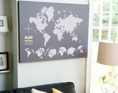 Travel opens our eyes to the wonders of the world, and creates memories that will last a lifetime. One of our Design Gurus would love to work one-on-one with you to customize this personalized interactive maps which help you keep those memories alive by displaying all of the places you've visited. After each trip, place a pin on the location you've just returned from… you won't be able to keep from smiling as you remember your favorite part of that trip, every time you see the map!
