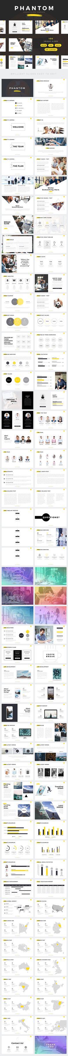 Phantom Modern Google Slides Template — Google Slides PPTX #tech #elegant • Download ➝ https://graphicriver.net/item/phantom-modern-google-slides-template/18962626?ref=pxcr