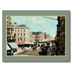 Vintage 1890s color Oxford street London photo Postcards and greeting cards