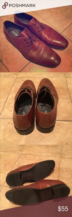 Stacey Adams mens brown dress shoe 9.5 ( fits 10) Stacey Adam's size 9.5 shoes (can fit a 10). Worn once for a wedding ceremony. Brown. stacey adams Shoes