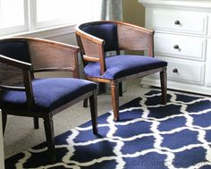 My Lazy Girl's Guide to Reupholstering Chairs {Tutorial}