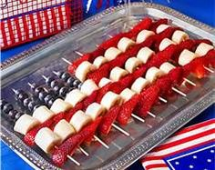 fourth of july food ideas - Bing Images                         bananas instead of marshmallows-healthier?