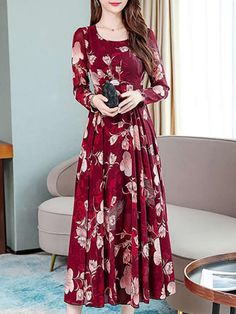 Modest Clothing, Modest Outfits, Women's Dresses, Dresses Online, Chiffon Gown, Number 3, Types Of Collars, Pattern Fashion, Frocks