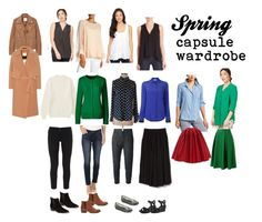 """Spring Capsule Wardrobe"" by stephxsu on Polyvore featuring Lucky Brand, ANATOMIE, Chloé, MANGO, By Malene Birger, Gap, Marc Fisher LTD, Seychelles, Uniqlo and Athleta"