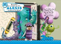 Personalize MONSTERS INC Invitation Monsters Inc Party  Make