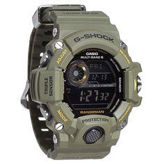 Casio G-Shock Digital Dial Green Resin Strap Mens Watch GW9400-3CR