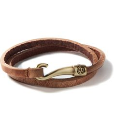 Brown Hooked Leather Bracelet