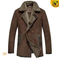 Measure to Made: Mens Shearling Sheepskin Leather Coat CW851155 - www.cwmalls.com