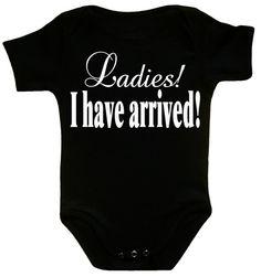 Ladies I have arrived baby boy shower ideas by CrazyBabyFashion, $13.99