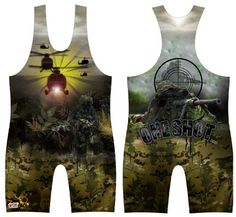7440147d5f55c One Shot Wrestling Singlet  Youths and Mens sizes