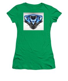 Women's T-Shirt (Junior Cut) - Blue Car 01