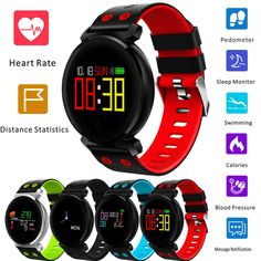 Color Screen Heart Rate Blood Pressure Sport Smartwatch For IOS Android Wearable Computer, Android Features, Wireless Charging Pad, Smart People, Heart Rate, Blood Pressure, Smart Watch, K2, Monitor