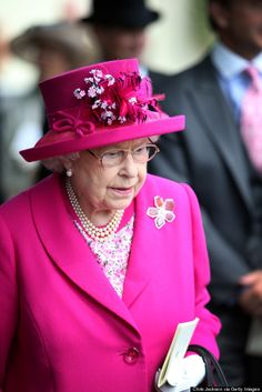 #QueenElizabeth today wearing her @HILLBERGANDBERK brooch at the #RoyalAscot! Do you want to own your very own pieces of the #Queen's diamond and tourmaline brooch??? Items from @HillbergAndBerk's #LegacyCollection are available at ACCENTS!