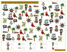 Work on counting up to one to one correspondence, visual discrimination, and more with this cute printable pirate I Spy game! Great for older toddlers, preschoolers, and kindergarteners. Pirate Preschool, Pirate Activities, Pirate Kids, Preschool Activities, Spy Games For Kids, I Spy Games, Teach Like A Pirate, Fairy Tale Crafts, Bible Coloring Pages