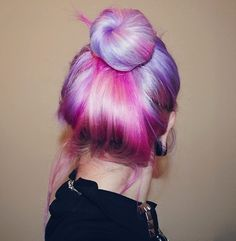 Pink & lavender hair... love all of the different shades!