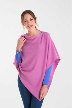 city poncho, Pink Clover Marl