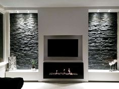 Kamin Wohnzimmer Modern Unser Haus Marvellous May Plant Colour Many plants vie for my attention duri Fireplace Tv Wall, Fireplace Design, Ethanol Fireplace, Rustic Fireplaces, Open Fireplace, Fireplace Ideas, Living Room Tv, Living Room With Fireplace, Tv Wall Ideas Living Room