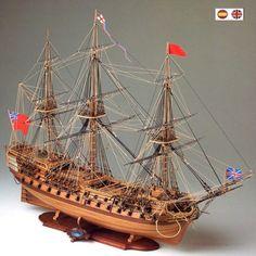 H.M.S. BELLONA 1760 - Navio de guerra ingles (770 mm Eslora)
