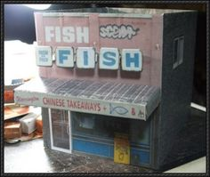 Fish N Chips Store Free Building Paper Model Download - http://www.papercraftsquare.com/fish-n-chips-store-free-building-paper-model-download.html