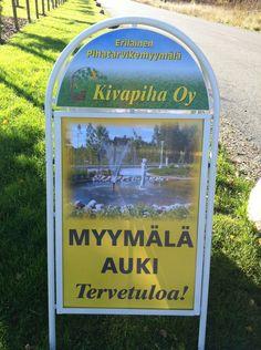 Erilainen puutarhamyymälä avoinna Mäntsälässä. Finland, Canning, Home Canning, Conservation