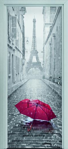 Dierre Printwood - #Porta #Parigi. Uno scorcio di un vicolo della città di Parigi