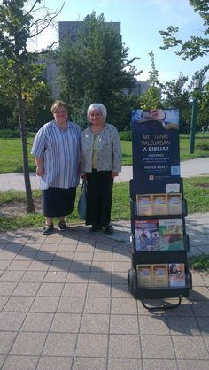 Public witnessing display in Budapest, Hungary