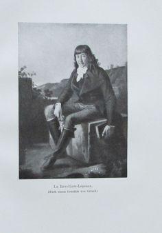 LA REVELLIERE-LEPEAUX Porträt von Gerard 1911 Alter Druck Antique Print Litho