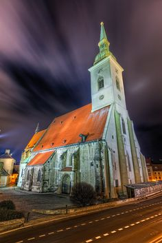 Moving clouds over the St. Martin's Cathedral, Bratislava ,Slovakia  #travel