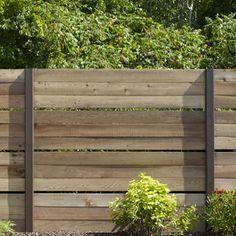 Panneaux de clôture ajourée en cèdre - cout approx. de 135$/panneau de 6pi.
