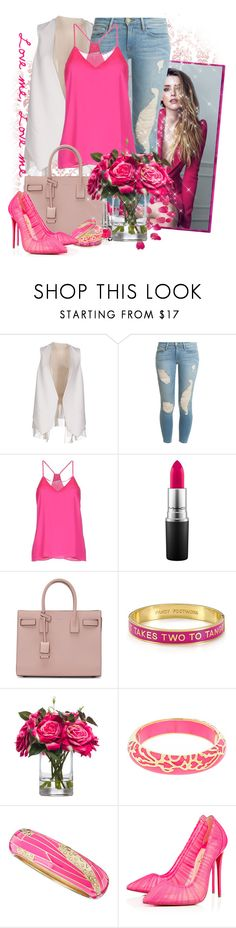 """""""sunshine"""" by kiera-van-witte ❤ liked on Polyvore featuring By Boe, Brunello Cucinelli, Frame Denim, Milly, MAC Cosmetics, Yves Saint Laurent, Kate Spade, Lux-Art Silks, Andrew Hamilton Crawford and Sequin"""