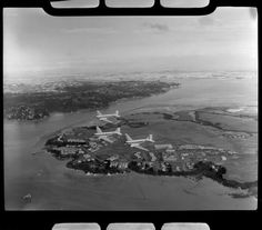 RNZAF (Royal New Zealand Air Force) Squadron flying airplanes over Hobsonville aerodrome, Auckland Great Photos, Old Photos, Photo Record, Aviation Image, Aircraft Photos, Photo Search, Click Photo, Auckland, Airplanes